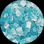 Aqua Dolce Diamond Fireplace Glass