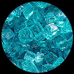 Bahama Blue Nugget Diamond Fireplace Glass