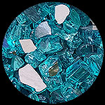 Bahama Blue Reflective Nugget Diamond Fireplace Glass