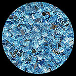 Bali Blue Reflective Diamond Fire Pit Glass