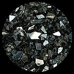 Black Reflective Diamond Fireplace Glass