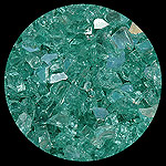 Blue Green Diamond Fireplace Glass
