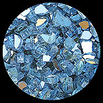 Blue Reflective Diamond Fire Pit Glass