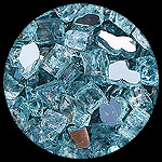 Carribean Teal Reflective Nugget Diamond Fireplace Glass