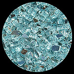 Carribean Teal Reflective Diamond Fireplace Glass