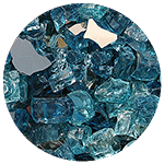 Costa Azul Diamond Fire Pit Glass