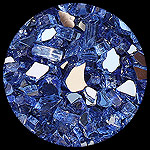 Electric Blue Reflective Diamond Fire Pit Glass