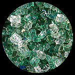 Emerald Bay Diamond Fireplace Glass