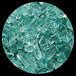 Emerald Green Diamond Fire Pit Glass