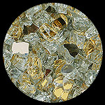Gold Reflective Nugget Diamond Fireplace Glass