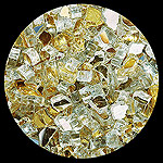 Gold Reflective Diamond Fire Pit Glass