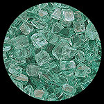 Green Nugget Diamond Fireplace Glass