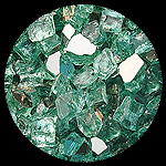Green Reflective Nugget  Diamond Fireplace Glass