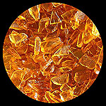 Honey Crystal Yellow Diamond Fire Pit Glass