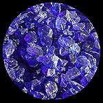 Indigo Diamond Fireplace Glass