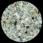 Platinum Reflective Diamond Fire Pit Glass