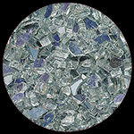 Silver Amethyst Reflective Diamond Fire Pit Glass