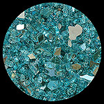 Turquoise Reflective Diamond Fireplace Glass