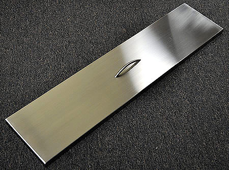 Trough Burner Cover - Stainless Steel